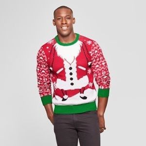 🎄NWT Holiday Men's Santa Sweater🎄